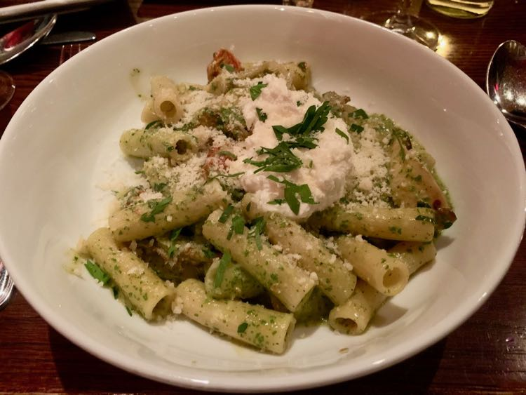Fresh pasta at Orzo Kitchen and Wine Bar in downtown Charlottesville