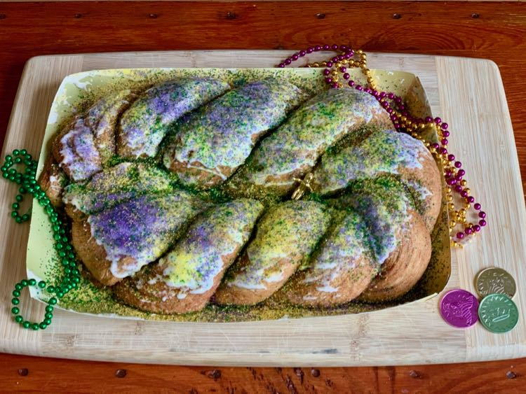 Mardi Gras King Cake from Harvest Bread