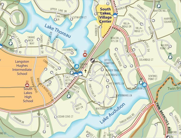 Lake Audubon trail map Reston Assoc