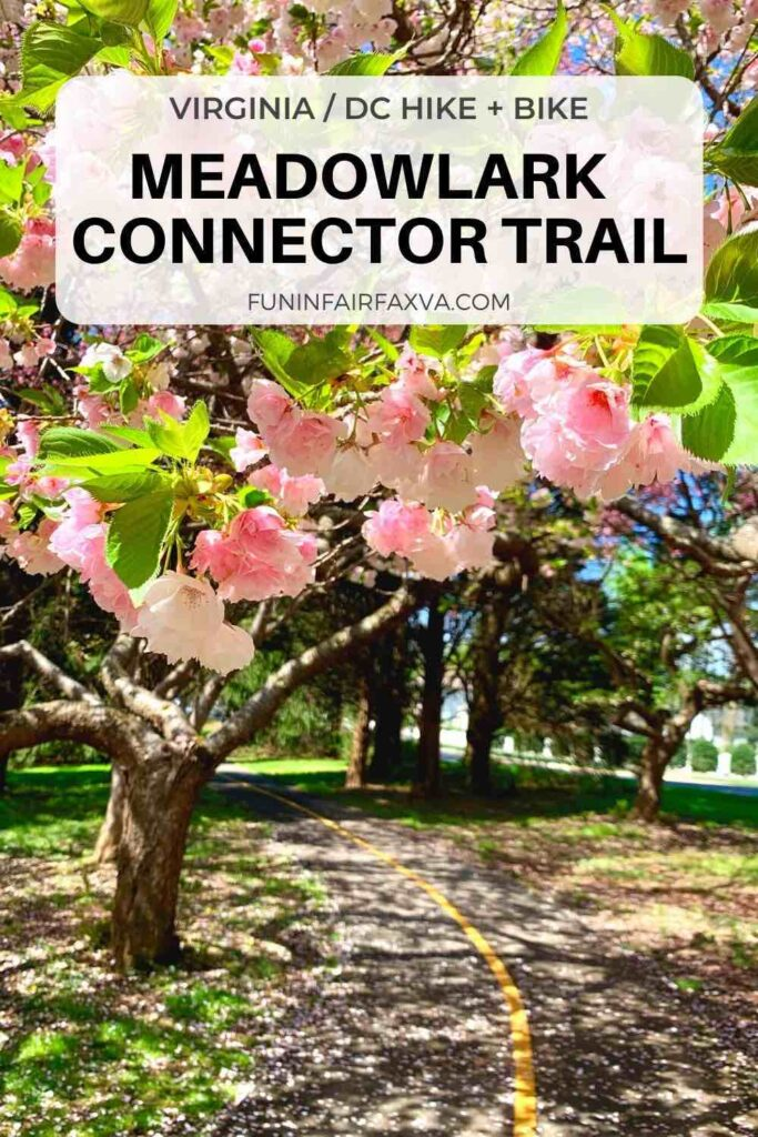 The NOVA Parks connector provides safe and scenic access to Meadowlark Gardens from the the W&OD on a paved 1.25 mile bike-friendly trail. #Virginia #bike #hike