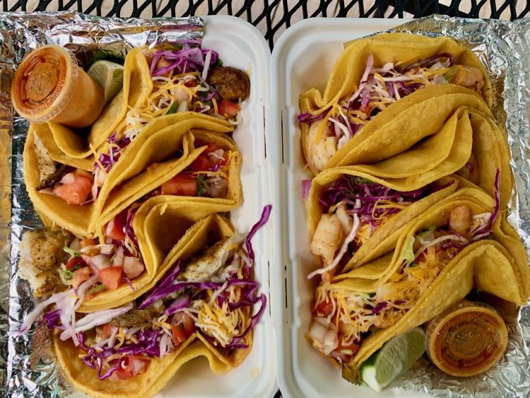 Taco Zocalo shrimp and fish tacos in Northern Virginia
