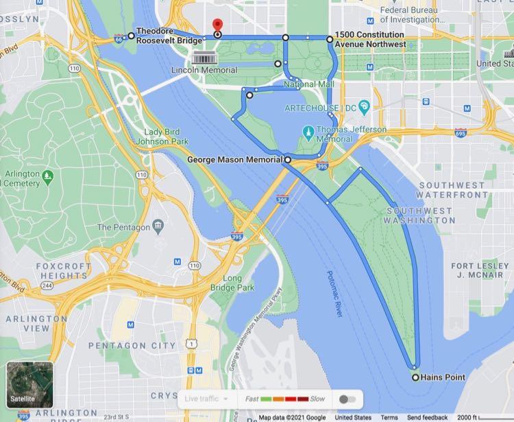 Cherry Blossom Scenic Drive FuninFairfaxVA Google map