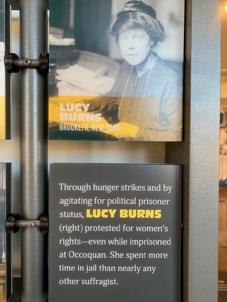 Suffragette Lucy Burns at Workhouse Arts Center