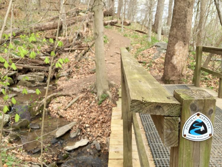 Potomac Heritage Trail at Riverbend Park in Northern Virginia