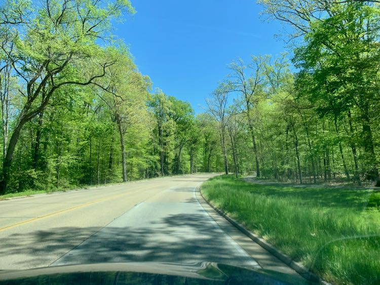 George Washington Parkway in spring near Mount Vernon Virginia