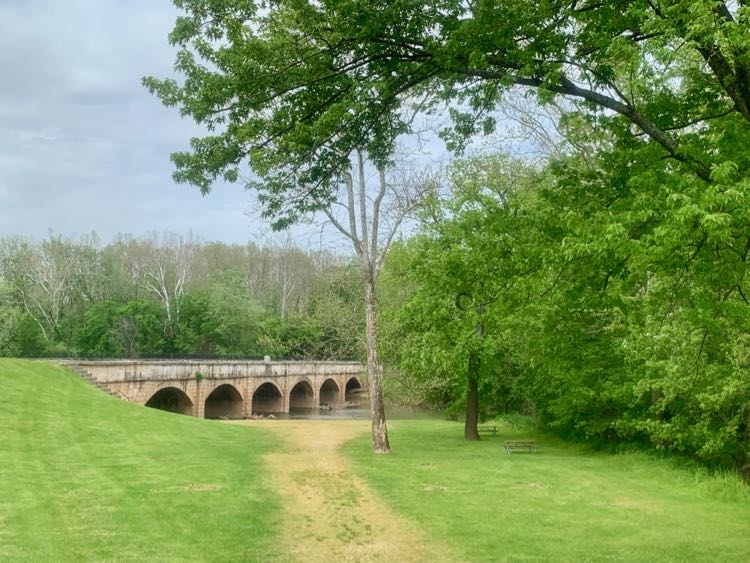Monocacy Aqueduct and picnic area