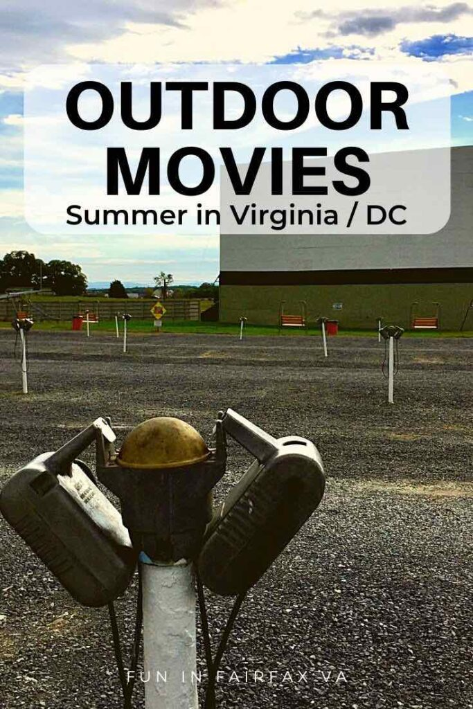 Complete guide to drive-in and outdoor movie series in Northern Virginia for a fun night out near DC.