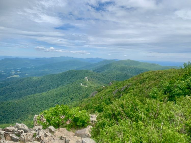 View north from Stony Man Mountain