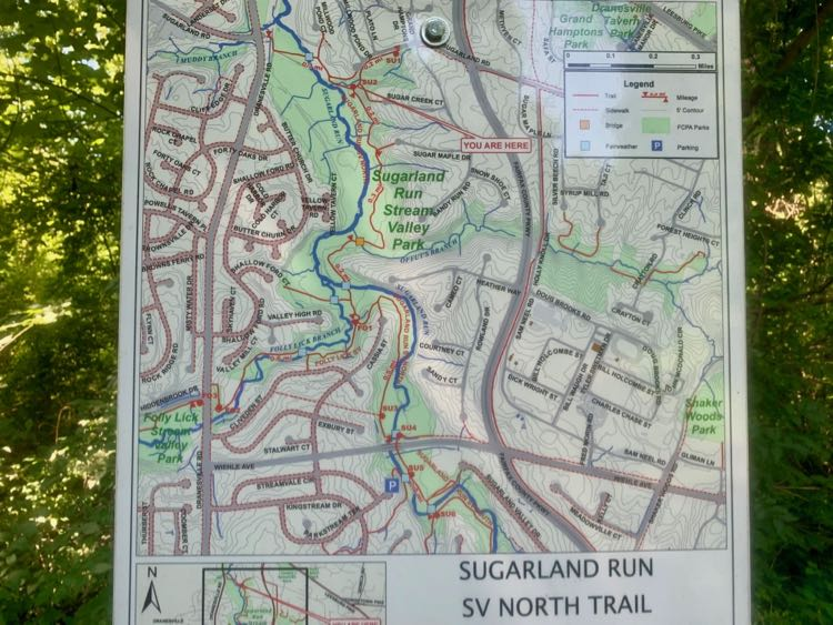 Sugarland Run North Trail map