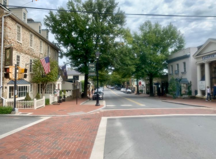 Downtown Middleburg Virginia in the heart of Hunt Country