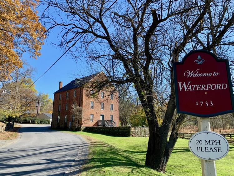 Waterford is one of the historic Virginia small towns near DC