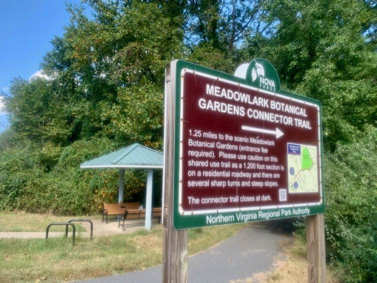 NOVA Parks Connector Trail sign and entrance