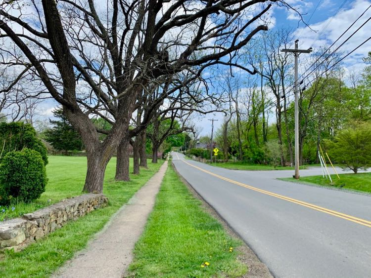 Snickersville Turnpike in the center of historic Bluemont Virginia