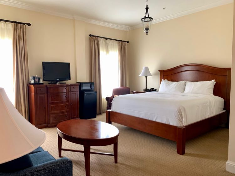 Enjoy a spacious room and comfy bed at The George Washington Winchester VA