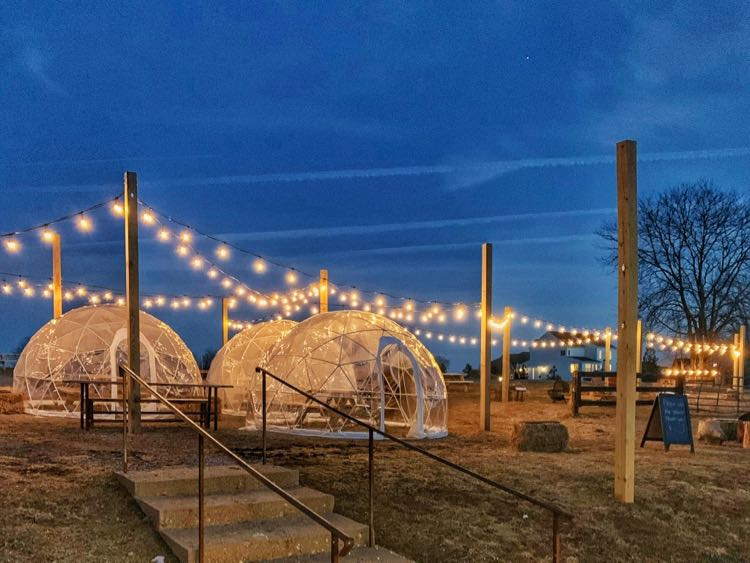 Wheatland Springs Brewery igloos, photo by Chris Militzer