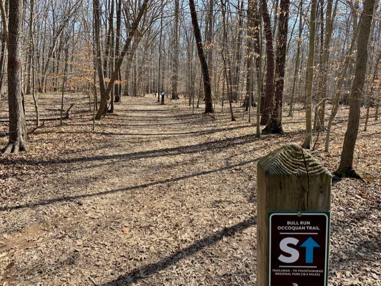 Bull Run Occoquan Trail marker