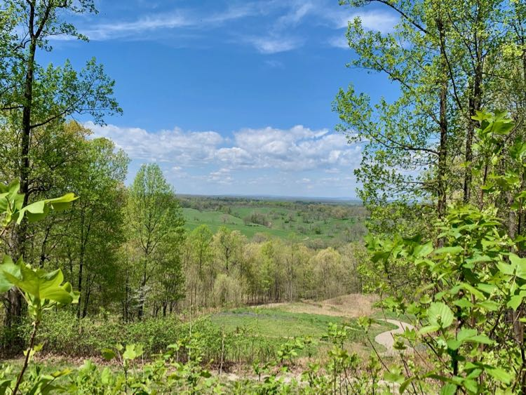 View from the high point at Cool Spring Battlefield