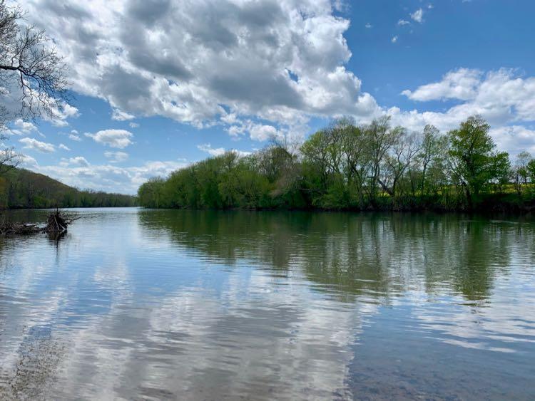 View of the Shenandoah River at Cool Spring