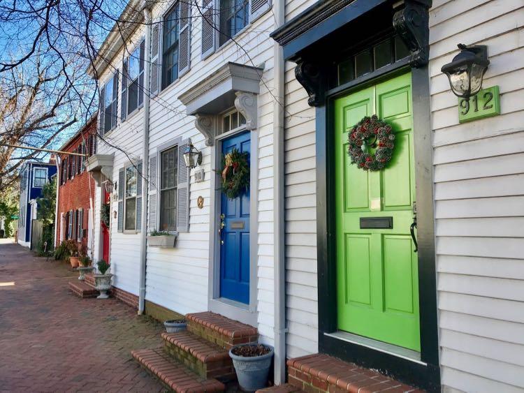 Colorful doorways in Old Town