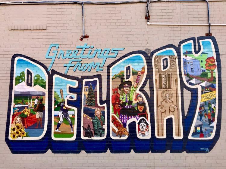 Del Ray mural in Alexandria Virginia