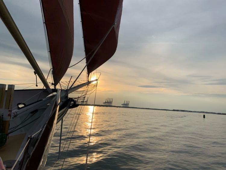 American Rover sunset sail