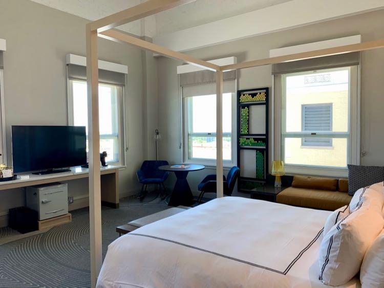 Glass Light Hotel room in Norfolk VA