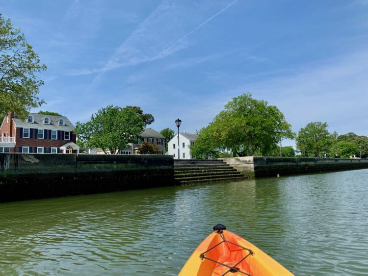 Kayaking on the Lafayette River in Norfolk Virginia