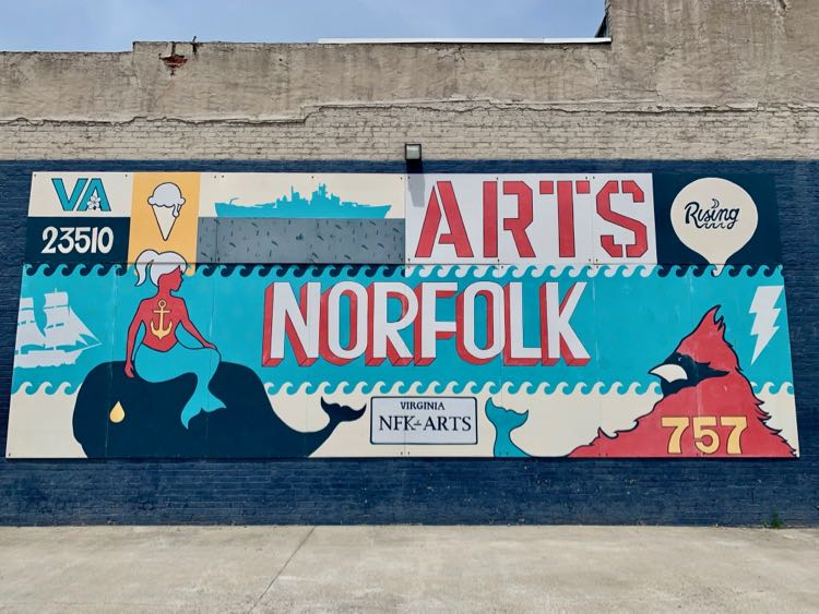 Seeing murals in the NEON District is just one of the fun and unique things to do in Norfolk VA.