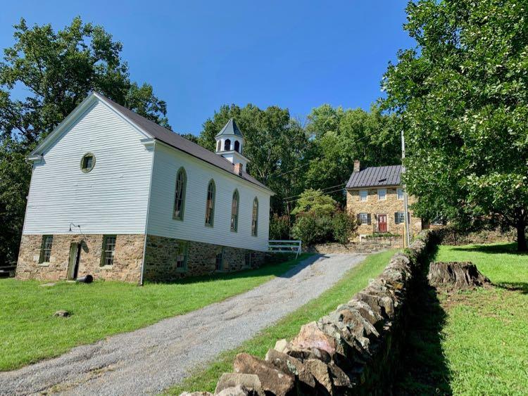 John Wesley Church as seen from the tanyard in Waterford Virginia