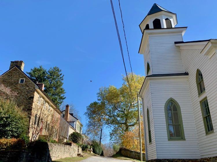 John Wesley Church in historic Waterford Virginia