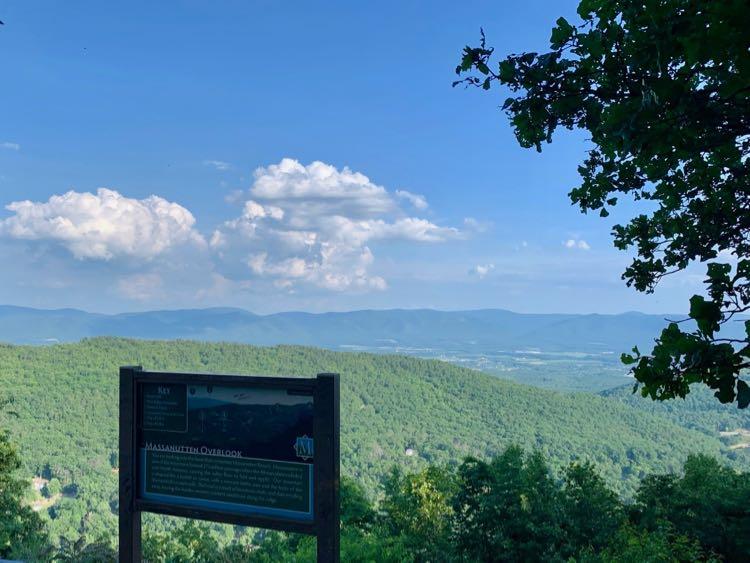 Mountain view from Massanutten Overlook in Virginia