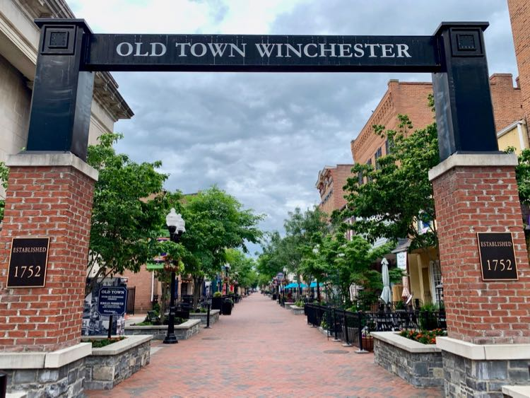 Old Town Winchester pedestrian mall