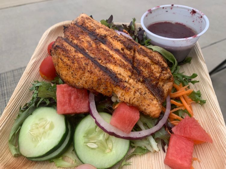Salmon Salad at the Massanutten Waterpark Chill Grill