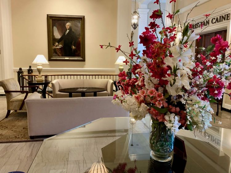 The George Washington lobby in Winchester Virginia