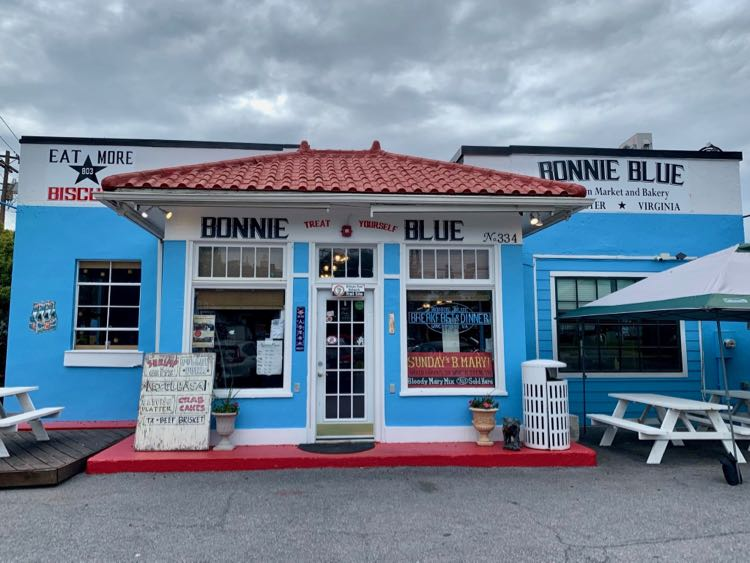 Bonnie Blue, one of our favorite restaurants in Winchester VA