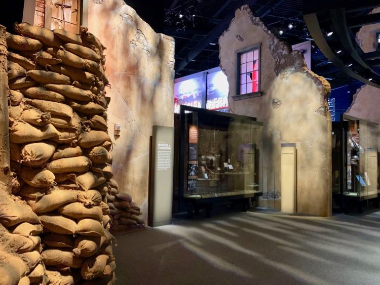 European Theater exhibit at the US Army Museum