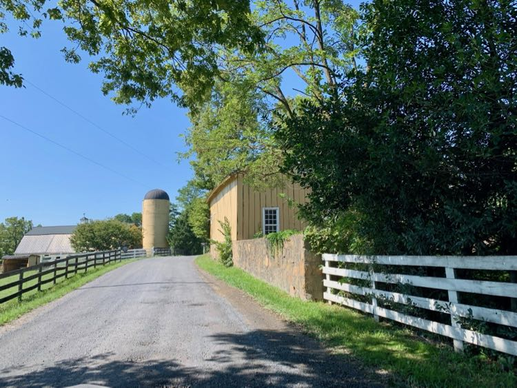 Take a scenic drive on Old Waterford Road past farms, fields, and forests.
