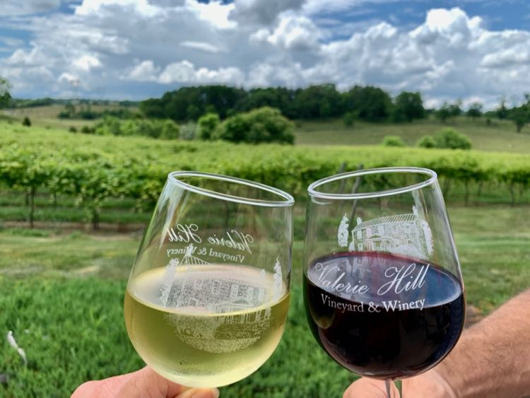 Toasting the view and Virginia wine at Valerie Hill Winery