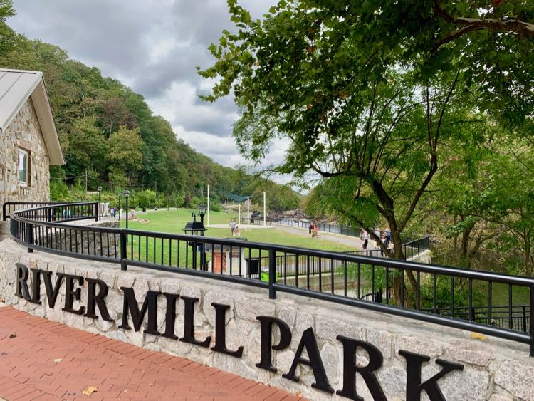 River Mill Park is a pretty green space in historic Occoquan Virginia.