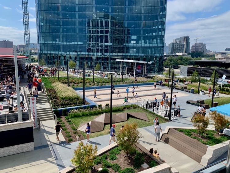The Perch at Capital One Center is one of the newest urban plazas in Northern Virginia