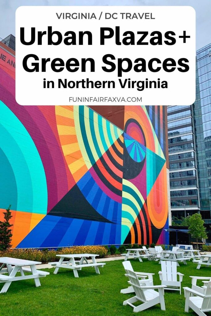 10 awesome urban plazas and green spaces in Northern Virginia where families, couples, and friends can picnic, relax, and play.